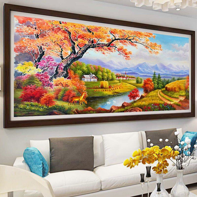New handmade home decor wall stickers mural crafts diamondpainting Landscapes Unfinished cross stitch diy5d full diamond mosaic