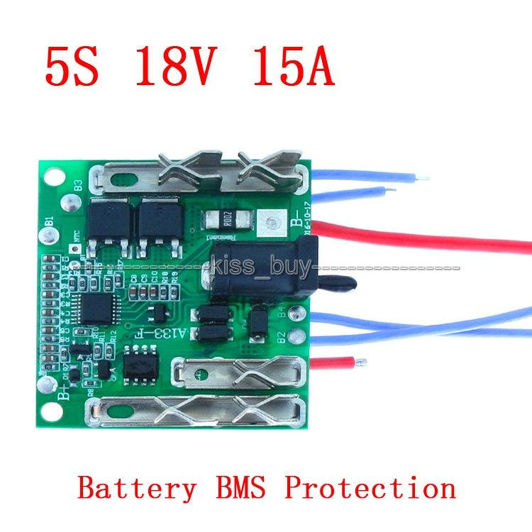 5S 18V 15A 5 Cell Li-ion Lithium Drill Battery BMS Protection PCB Circuit Board