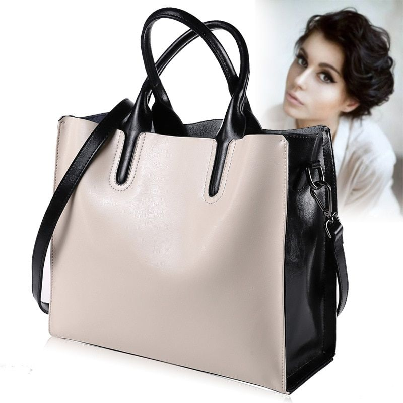 Luxury 100% Genuine Leather Women <font><b>Handbags</b></font> Designer Brand Cowhide Real Skin Women Shoulder Messenger Bags Totes Bolsa Feminina