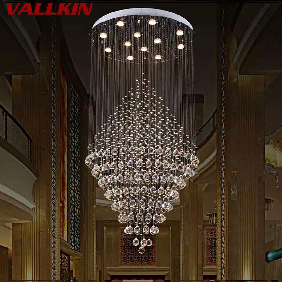 Moderne Kristall-kronleuchter Beleuchtung Luxus Kronleuchter Lampe Hängeleuchte Lüster De Cristal Lampe Hotel Suspension Lampen Beleuchtung