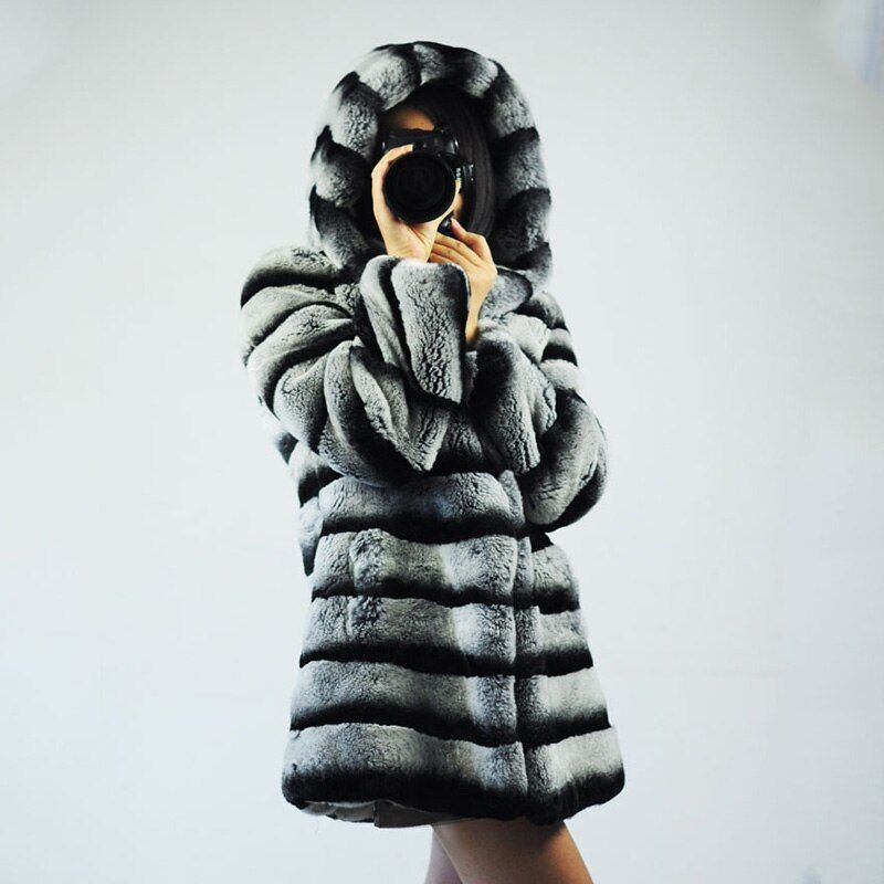 New 2018 Winter Warm Fashion Women Import Coat Fur Coat High Quality Real Fur Coat Fox Fur Long Coat Plus Size S-XXXXL