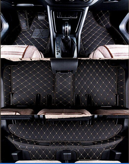 High quality! Custom special floor mats for Toyota Highlander 7 seats 2018-2014 durable waterproof rugs carpets,Free shipping