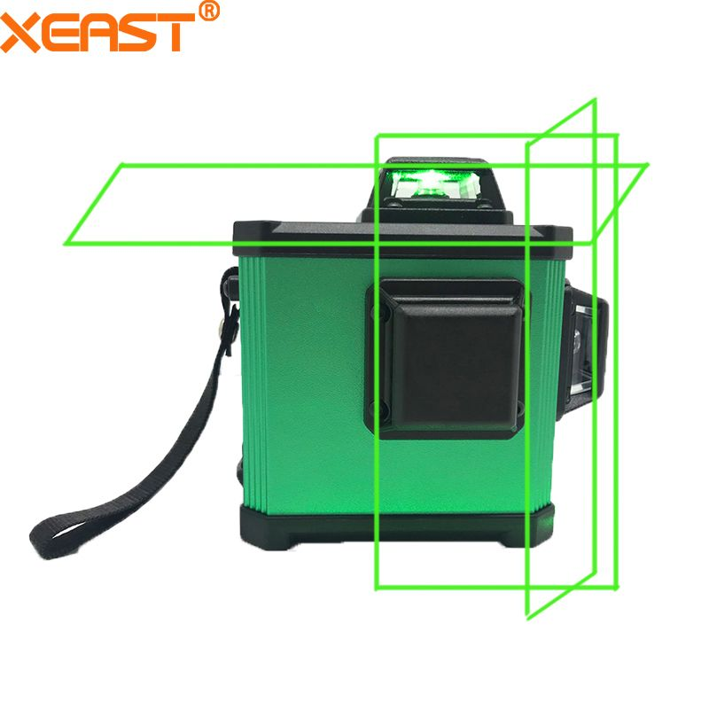 XEAST 2018 Electronic Leveling 12 Line 3D Laser Level High precision Green Laser Level Lithium Battery Cross Line