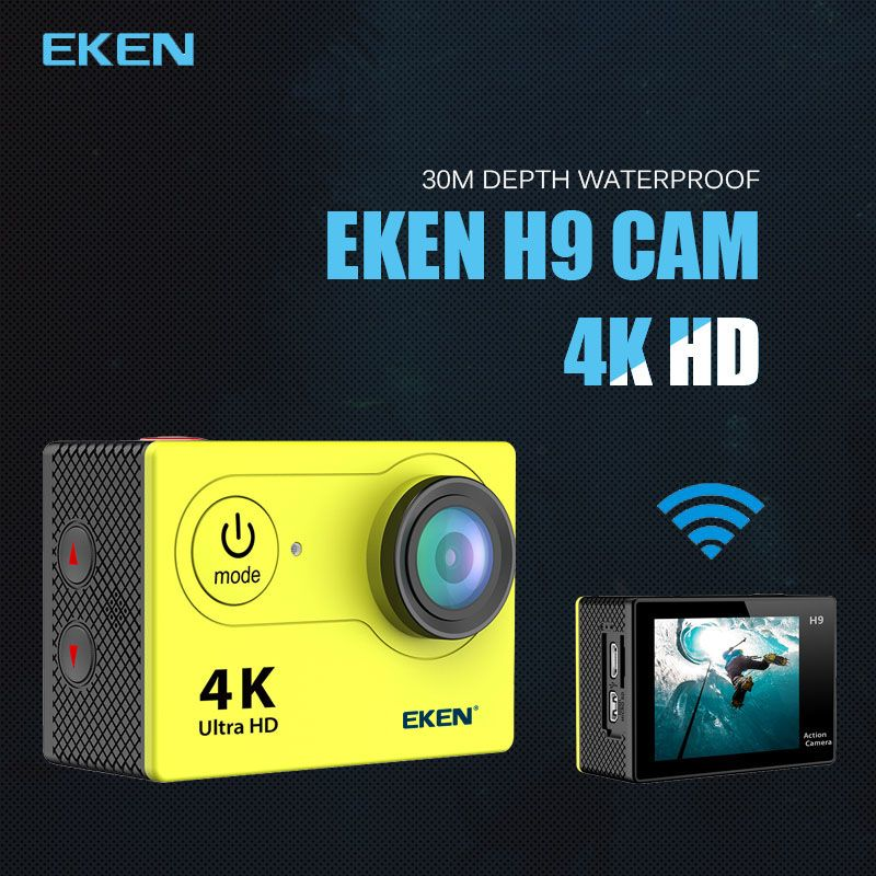 New Arrival!Original Eken H9 H9R Ultra HD 4K Action Camera 30m waterproof 2.0' Screen 1080p sport Camera go extreme pro cam