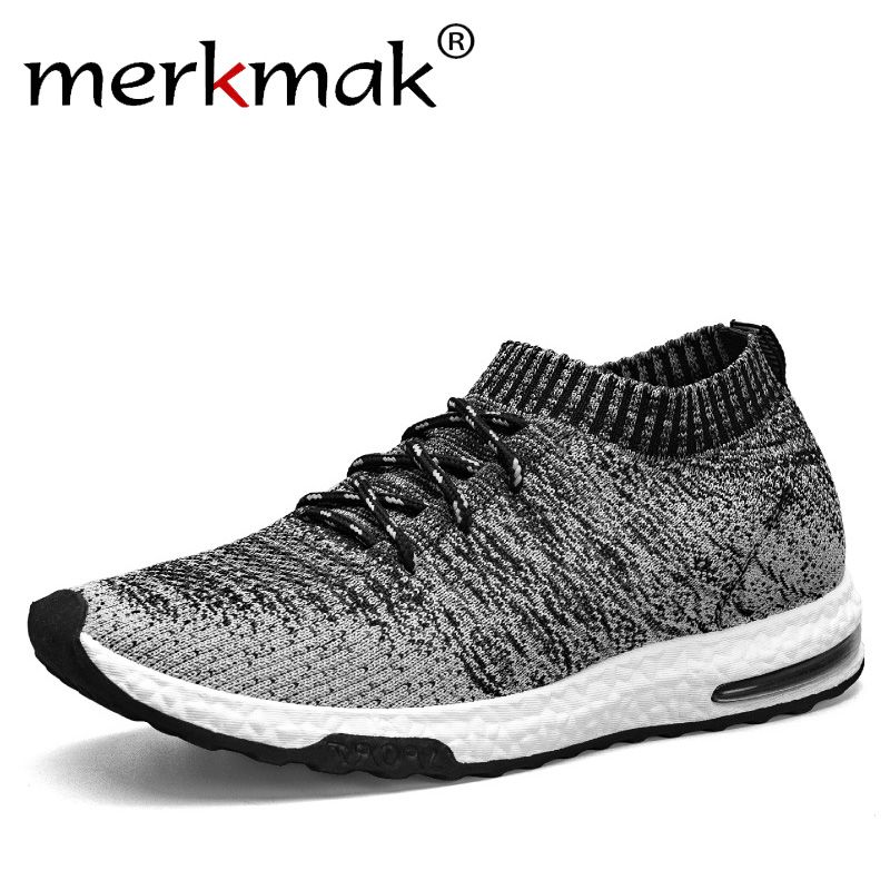 Merkmak New 2018 Men Casual Sneakers Breathable Mesh Man Fashion Shoes Footwear Slip On Soft Walking Unisex Couples Shoes