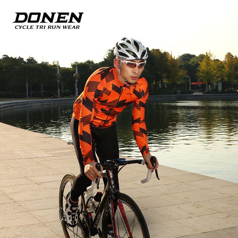 DONEN Herbst Winter Fleece Warm Langen ärmeln Fahrrad Radfahren Jacken Mann Radfahren jersey Jacke MTB Bike Kleidung ciclismo