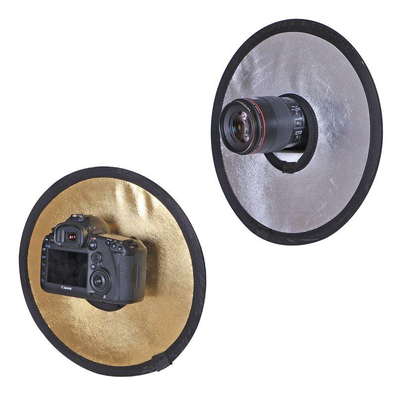 CY 11.8 '30 cm 2 en 1 Or et Argent Pliable Lumière Ronde Photographie Creux Réflecteur pour Studio Photo Appareil Photo Accessoires