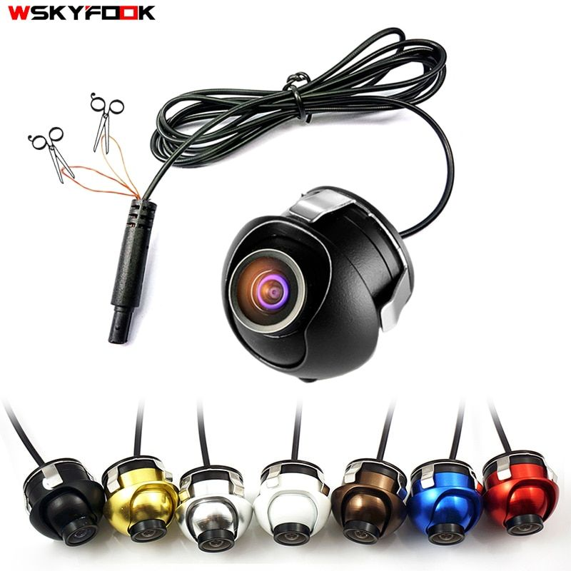 Caméra de vision nocturne CCD HD caméra de recul avant/côté/gauche/droite/arrière à 360 degrés de Rotation caméra de recul universelle pour voiture