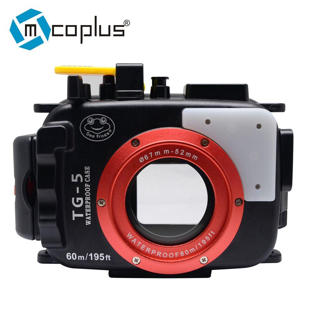 Mcoplus 40m/130ft TG-5 Underwater Case Waterproof Diving Housing Camera Bag for Olympus TG-5