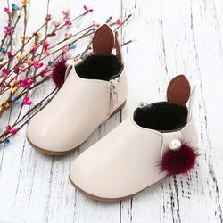 2018 Baru Musim Gugur Musim Dingin Balita Bayi Gadis Cute Rabbit Ears Bola Sneaker Boots Zipper Kasual Sepatu NO6