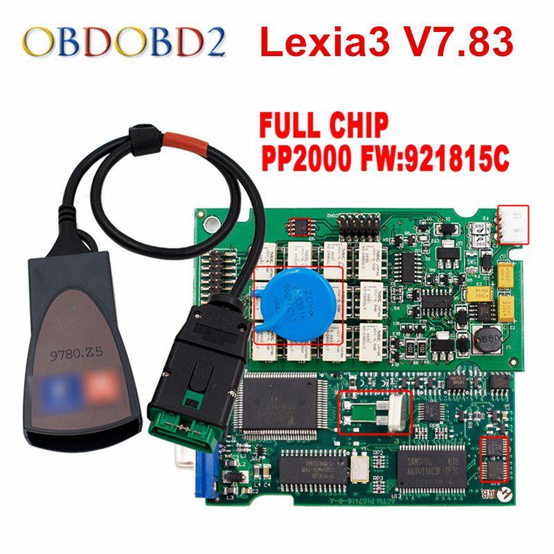 Newest Diagbox V7.83 Lexia3 PP2000 Firmware 921815C Lexia 3 For <font><b>Citroen</b></font> For Peugeot Car Diagnostic Tool Free Ship
