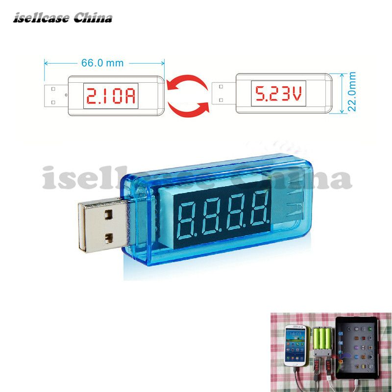 Wozniak Free Shipping USB Charger Doctor Mobile Power Detector Battery Test Voltage Current Meter For iphone Maintenance phone