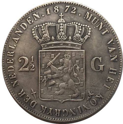 1872 Netherlands COIN COPY FREE SHIPPING