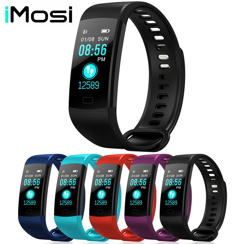 Y5 Smart Band Watch Color Screen Wristband Heart Rate Activity Fitness tracker Smart Electronics Bracelet VS Miband 2