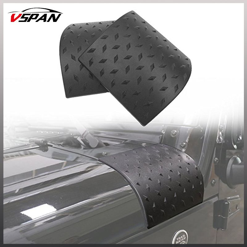 2pcs High Quality Black Cowl Body Armor Outer Cowling Cover for Jeep Wrangler Rubicon Sahara JK 07-17 & Unlimited T2J2 Offroad