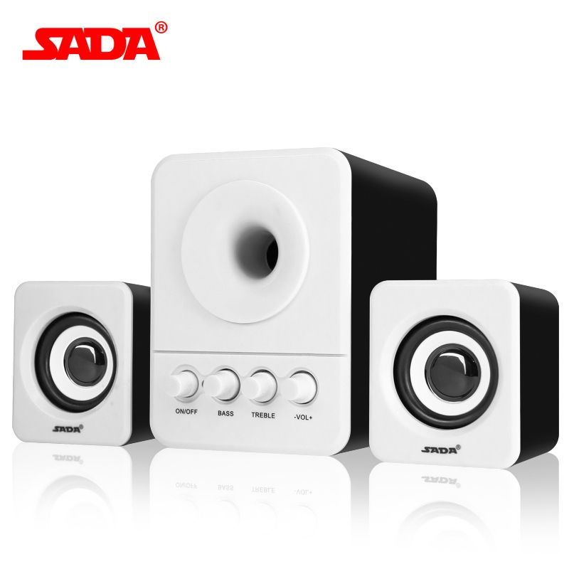 SADA Wired Combination speaker suitable for desktop computer mobile notebook computer speaker USB 2.1 bass cannon Free Shipping