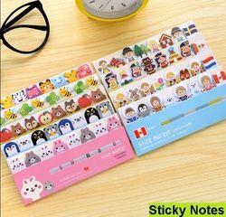 1 pack/lote animales de dibujos animados pegajoso nota post it stick & Memo papel bookmark escritorio mensaje