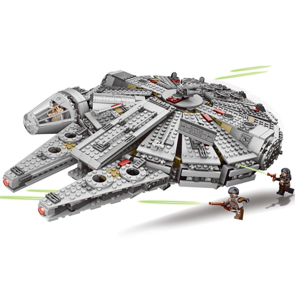 Kraft Weckt Stern Set Wars Serie Kompatibel 79211 Millennium Falcon Figuren Modell Bausteine Spielzeug Für Kinder spielzeug block