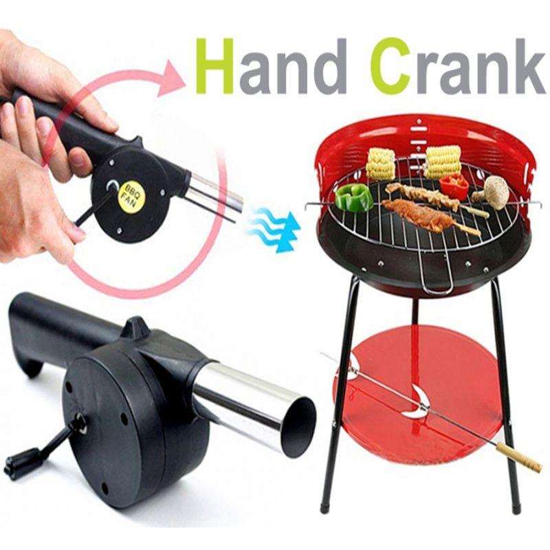 Nouveau barbecue outils fan air blower Main Fan Manivelle pour En Plein Air de Pique-Nique Camping barbecue accessoires de cuisson outil