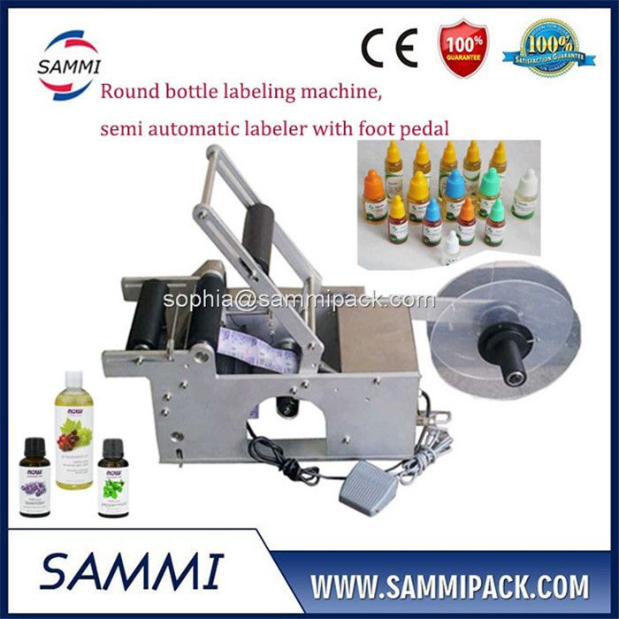 semi automatic sticker labeling machine for round bottle
