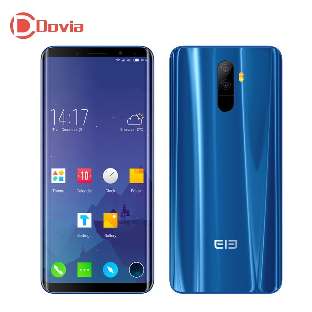 Elephone U 4G Mobile Phone 5.99 Inch Android 7.1 MTK6763 Octa Core 6GB 128GB Dual Rear Camera Corning Gorilla Glass Screen Phone