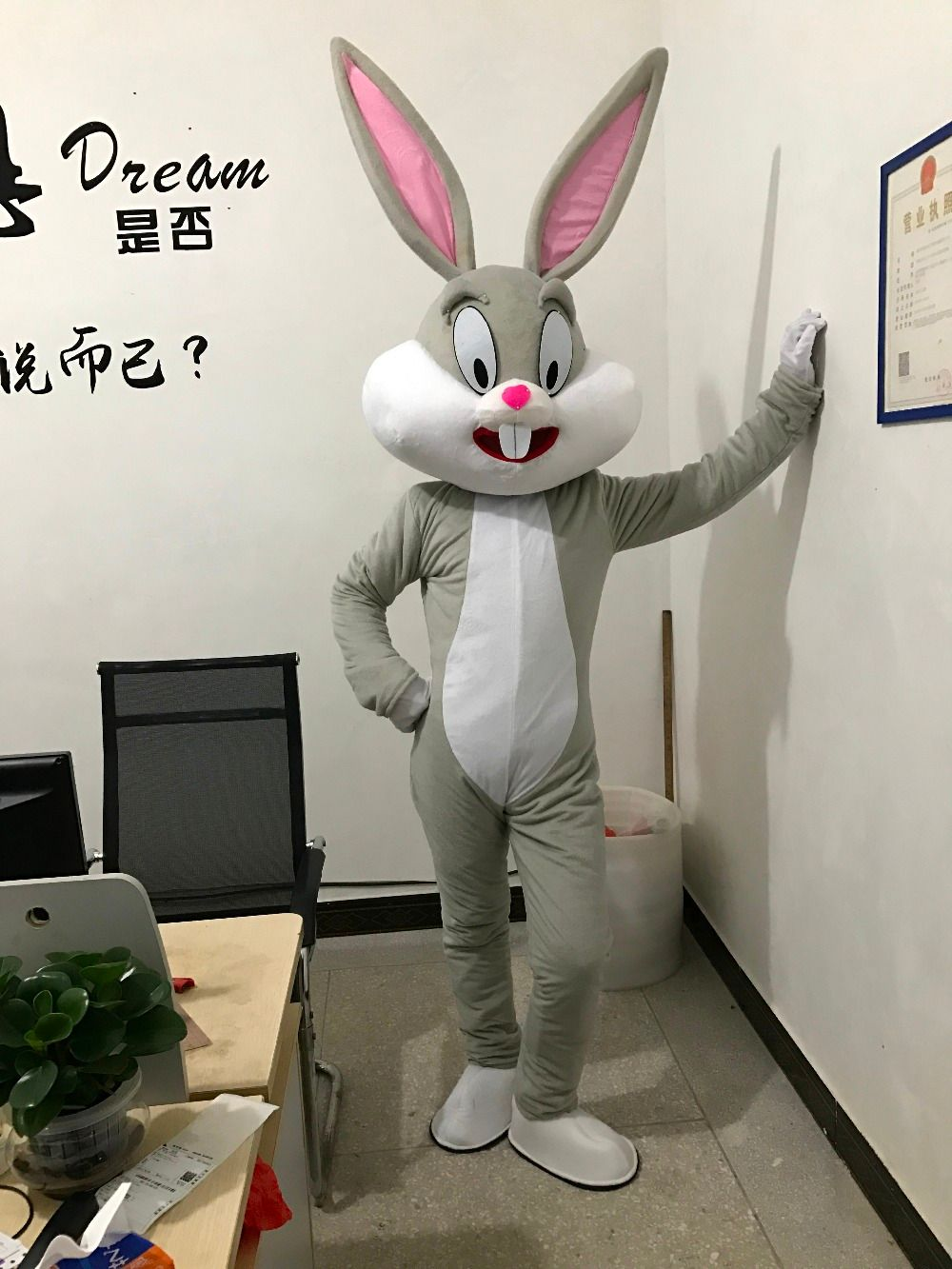 2018 Hot Sell Professional Easter Bunny mascot costumes Bugs Bunny Adult size