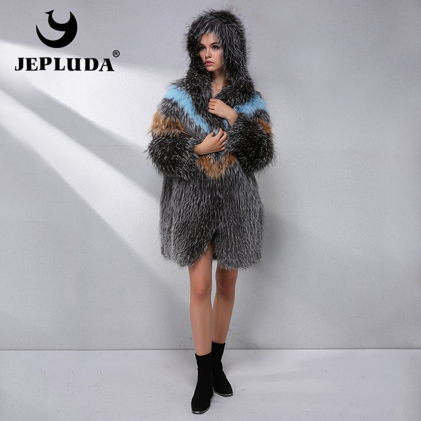 JEPLUDA Luxury Hot Sale Natural Real Fox Fur Coat Women Clothes Latest Fashion Color Real Fur Coat Winter Leather Jacket Women