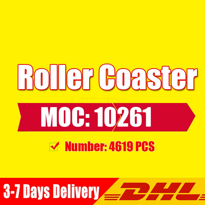 DHL Girl Playground Roller Coaster Set Buidling Blocks Bricks Kid Toys Compatible Legoingly 10261 Toy Gift Model