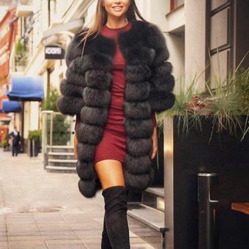 2018 echt Fuchs pelz mantel frauen grau kurzarm Weste Abnehmbare Verwandeln Weste Mode Luxus Dicken Warmen Mantel Jacke Solide pelz