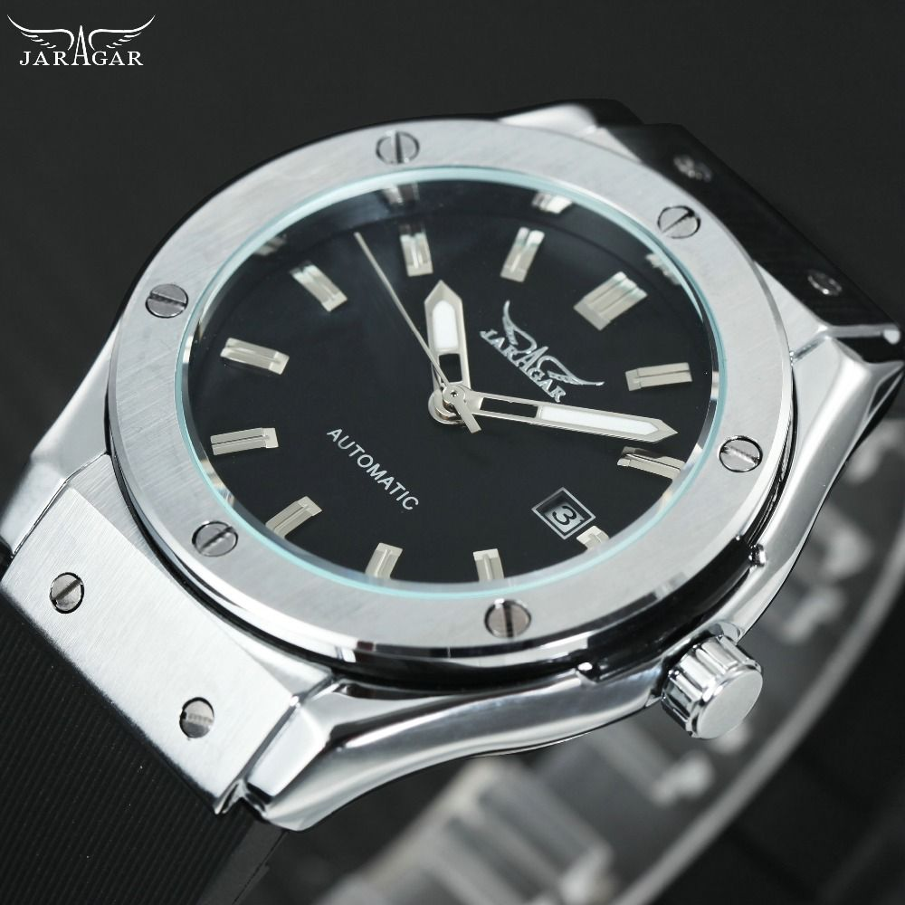 Sports Men's Automatic Watches Top Luxury Brand WINNER Fashion Men's Military Mechanical Wrist Watches Montre Homme Rubber Band