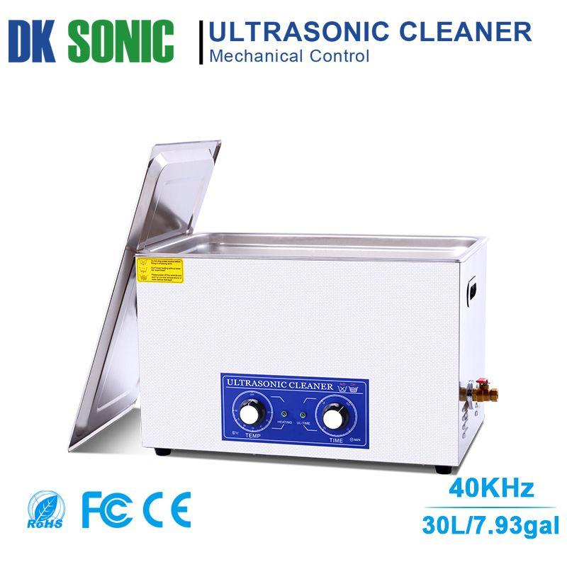 30L Große Ultraschall Vergaser Reiniger mit Knob Control für Industrielle Hardware Zubehör Golf Clubs Motor/Auto Teile