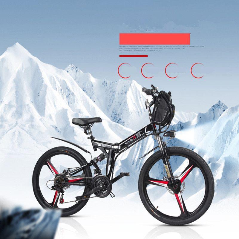 26 zoll elektrische fahrrad 48V. 10.8AH lithium-batterie elektrische mountainbike integrierte rad 350 watt elektrische klapp fahrrad