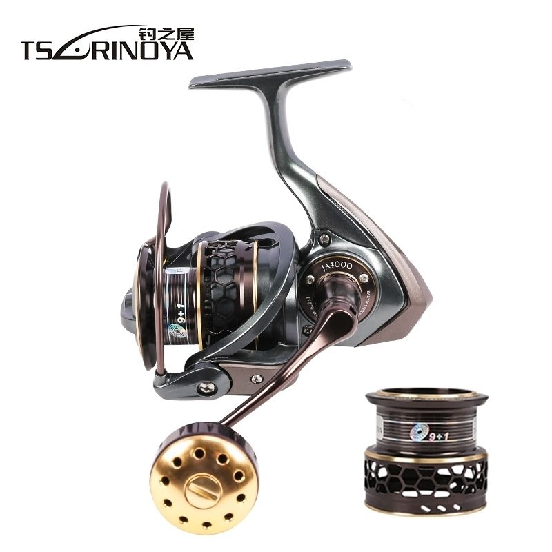 TSURINOYA Jaguar 4000 Double Spool 9+1BB Saltwater Fishing Spinning Reel 7kg Max Drag Carp Jigging Boat Spinning Fishing Reel