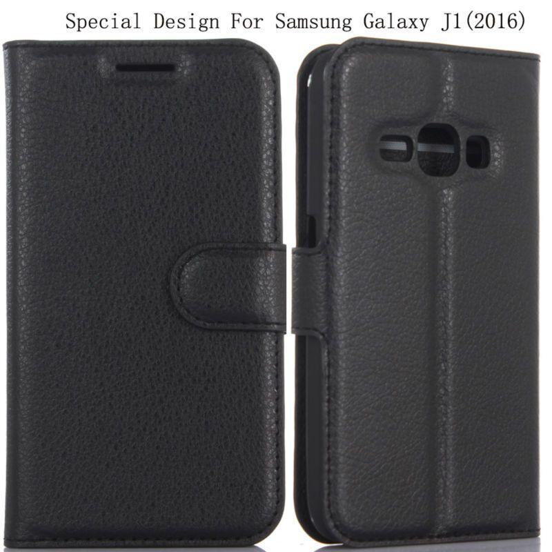 PIERVES haute qualité 6 couleurs housse en cuir PU peau bouclier Pour Samsung Galaxy J1 (2016) J120 J120F J120H J120M