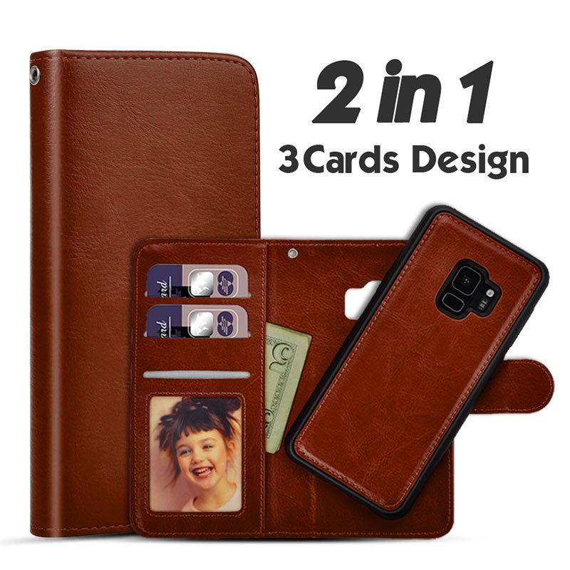 LANCASE For Samsung Galaxy S7 Case Wallet Flip Detachable Leather Case For Samsung Galaxy S7 Edge S6 Edge S8 Plus S9 Cases Cover