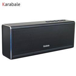 20 W Logam Bluetooth Speaker 4400 MAh Power Bank Portable Super Bass Wireless Desktop Mobil HI FI Speaker Pengeras Suara Handfree Juga MIC fm