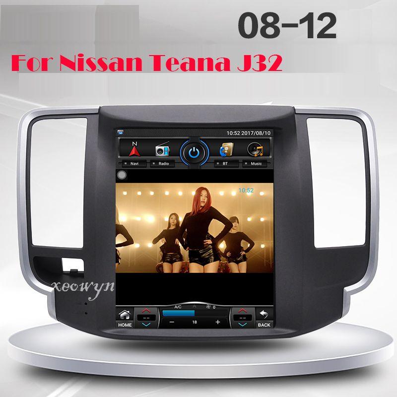 Vertikale bildschirm Quad core RAM2GB 10,1 zoll Auto GPS-Navigation für Nissan teana J32 2008-2012 wifi internet bluetooth hinten kamera
