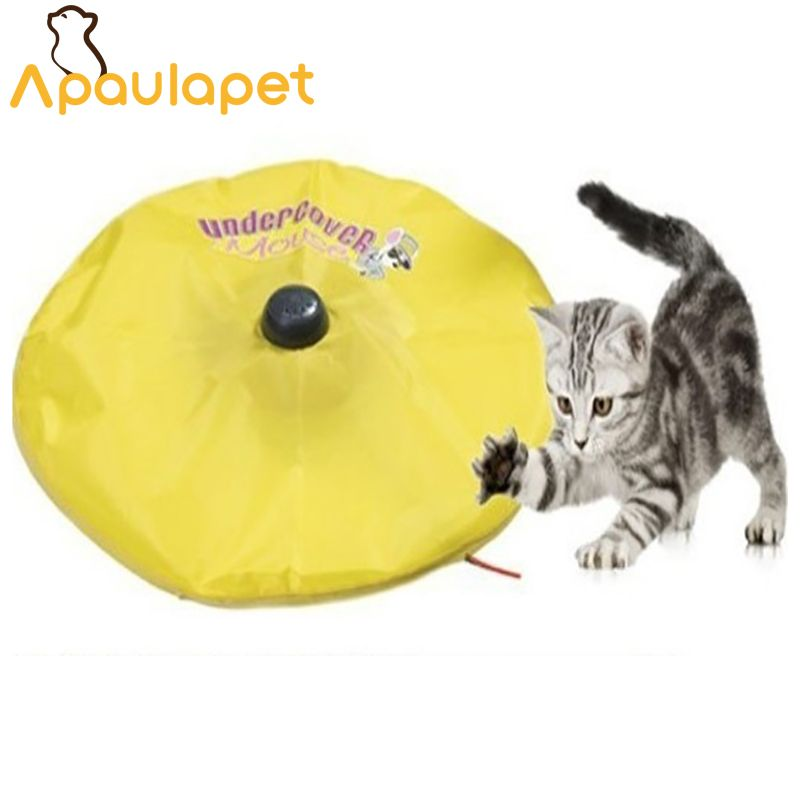 APAULAPET Cat's Meow - As Seen On TV - Undercover <font><b>Motorized</b></font> Moving Mouse Cat Toy