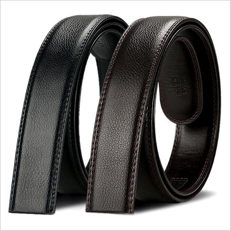 2017 mode en cuir Automatique d'affaires ceinture boucle hommes 3.5 cm noir brun corps longueur de 130 cm large homme ceinture accessoires 140