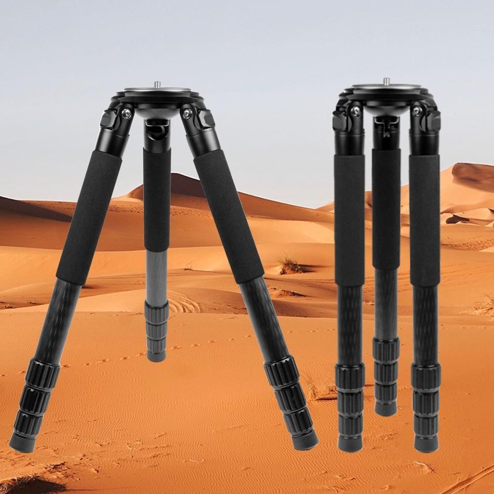 L404C Berufs Carbon Stativ Vogel Beobachten Ohne Mid-Achse 40mm Große Rohr für Digital Kamera Video Camcorder