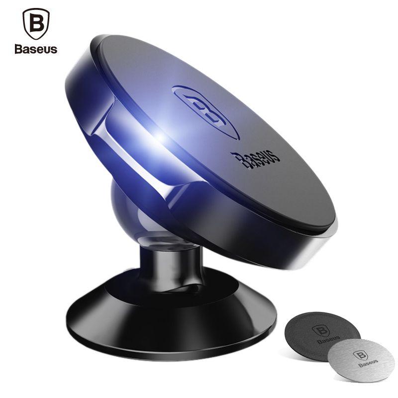Baseus d'origine Universel Magnétique Téléphone De Voiture GPS Titulaire 360 Rotation Aimant montage stand Pour iPhone X 8 7 6 s Samsung Téléphone Intelligent