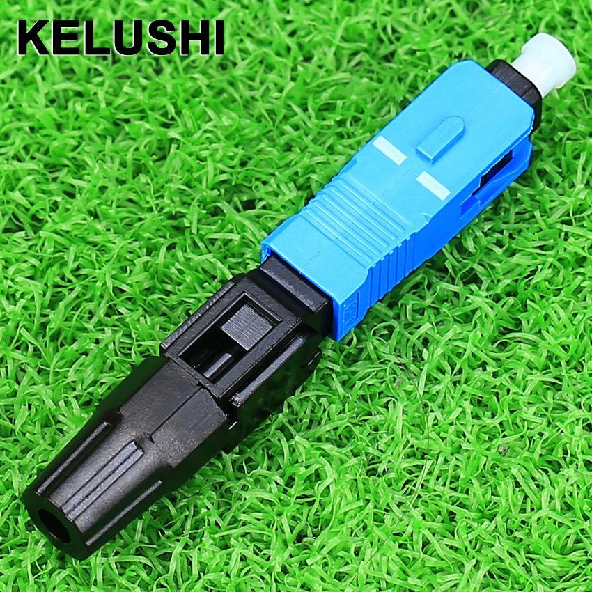 KELUSHI 100 pcs/lot SC Fiber Optique Rapide Froid Connecteur FTTH SC Monomode UPC Connecteur Rapide