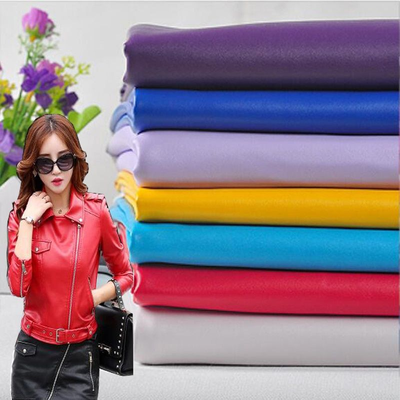 Bon 69 * 50cm1pc Faux Cuir Tissu PU Faux Cuir Tissu Synthétique Faux Cuir Tissu Pour Coudre Matériel pour Diy vêtements