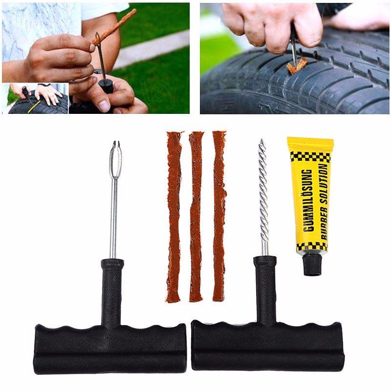 2018 New Car Tire Repair Tool Kit For Tubeless Emergency Tyre Fast Puncture Plug Repair Block Air Leaking For Car/Truck/Motobike