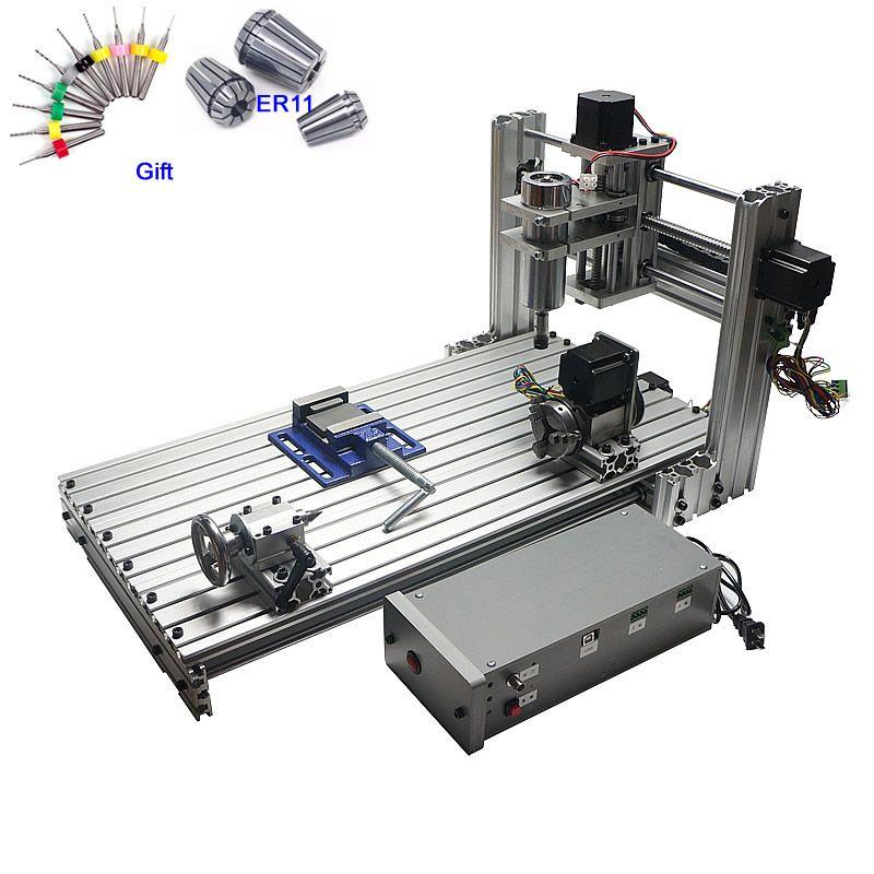 CNC Router Holz Maschine 3 achsen 4 achsen 6030 Gravur Schneiden 400 W USB port Unterstützung Win 8 10