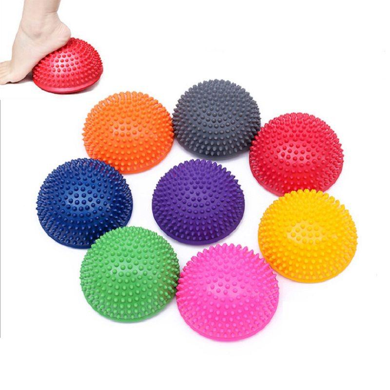 Yoga demi-balle appareil de Fitness physique exercice équilibre point de balle massage pierres de marche bosu balance pods GYM YoGa Pilates
