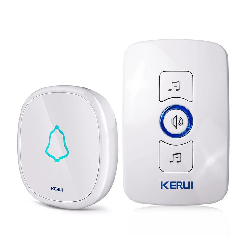 KERUI EU/US/UK Plug 32 Songs Optional Waterproof Touch Button Smart Home Welcome Doorbell Alarm Intelligent Wireless Doorbell