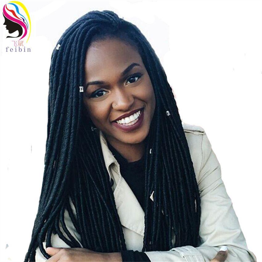 3 пакеты feibin искусственная locs коса синтетических волос крючком, плетение волос для черные женские 90 нитей Длина 14 дюйм(ов) Бесплатная ShippingD96