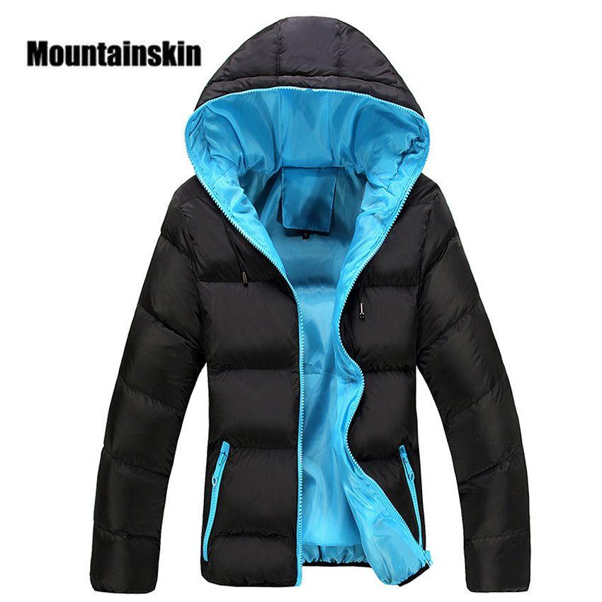 Mountainskin 5XL Hommes D'hiver Casual New Capuche Épais Rembourré Veste Zipper Slim Hommes Et Femmes Manteaux Hommes Parka Outwear Chaud EDA020