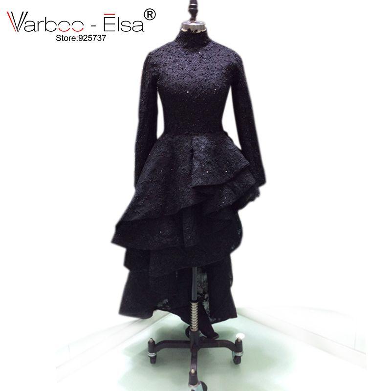 VARBOO_ELSA dubai long sleeves sexy lace appliques prom dresses 2018 arabian prom dresses vintage prom evening dresses black